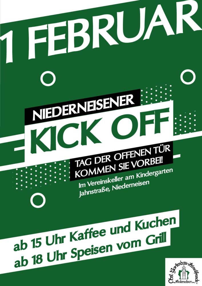 Plakat zum Kick-off 2020 am 01. Februar